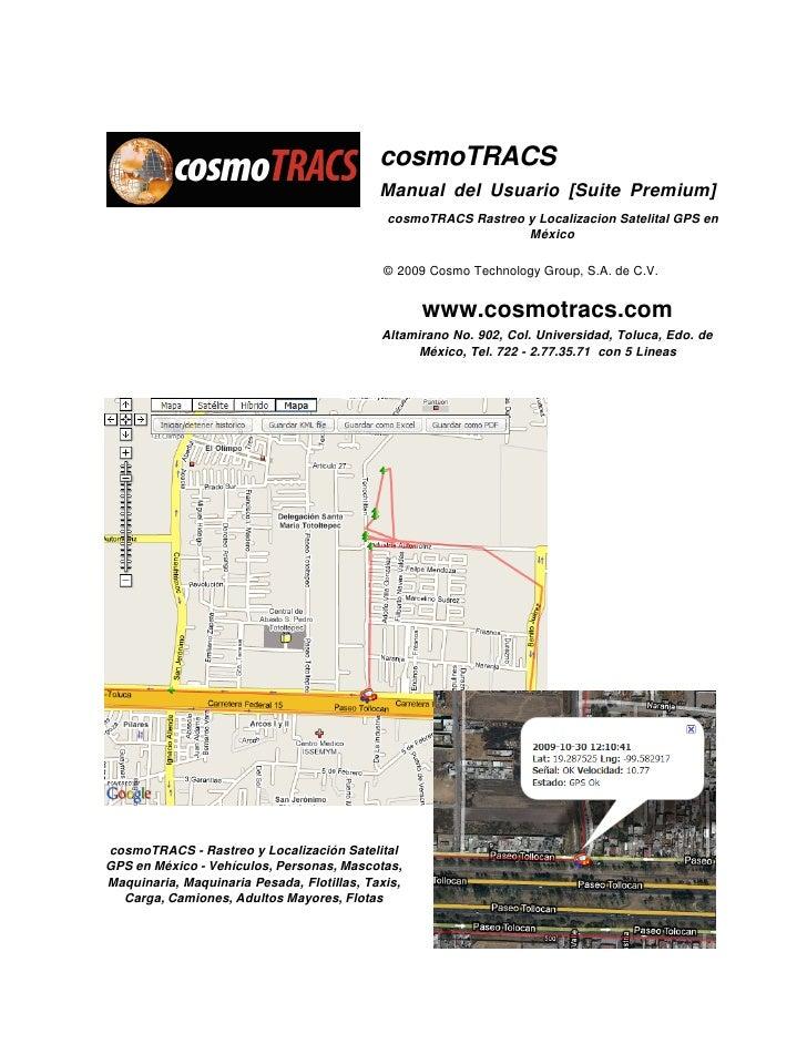cosmoTRACS                                             Manual del Usuario [Suite Premium]                                 ...