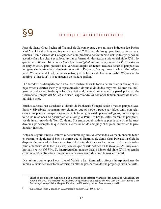 117§9 EL DIBUJO DE SANTA CRUZ PACHACUTIJoan de Santa Cruz Pachacuti Yamqui de Salcamaygua, cuyo nombre indígena fue PachaK...