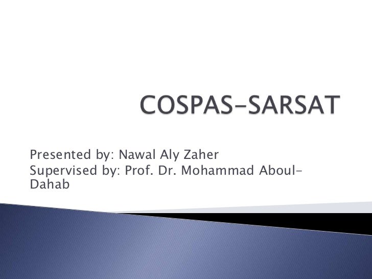 Presented by: Nawal Aly ZaherSupervised by: Prof. Dr. Mohammad Aboul-Dahab