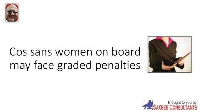 Cos sans women on board may face graded penalties