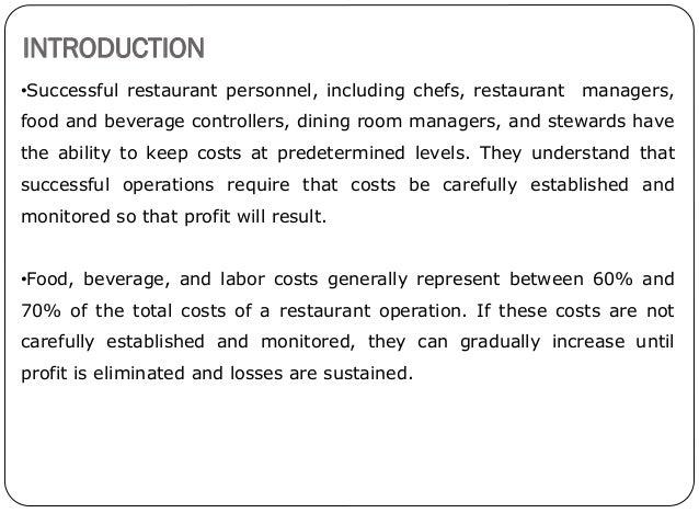 basic food and beverage service skills