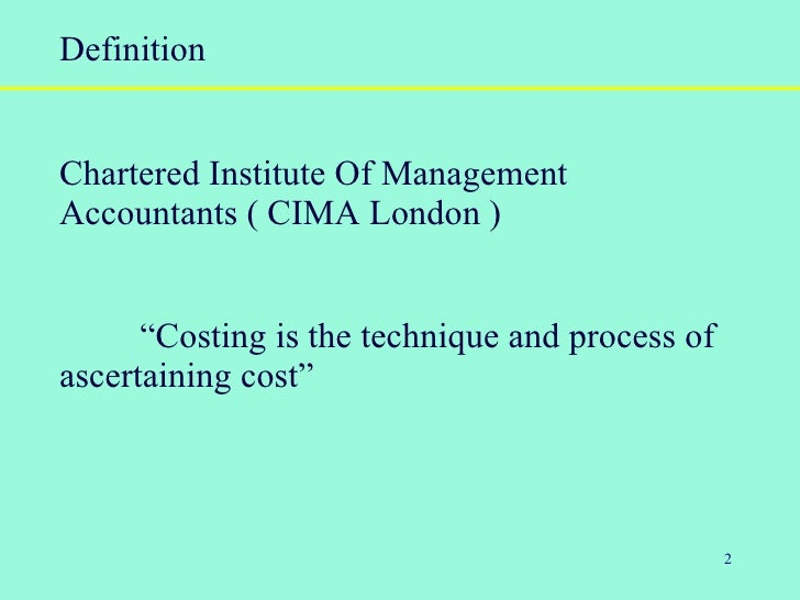 definition of management accounting by different authors