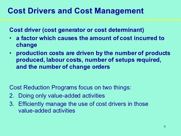 the impact of activity based costing on