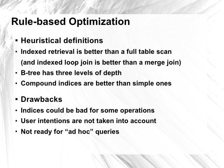 Firebird: cost-based optimization and statistics, by Dmitry Yemanov (in English) Slide 3