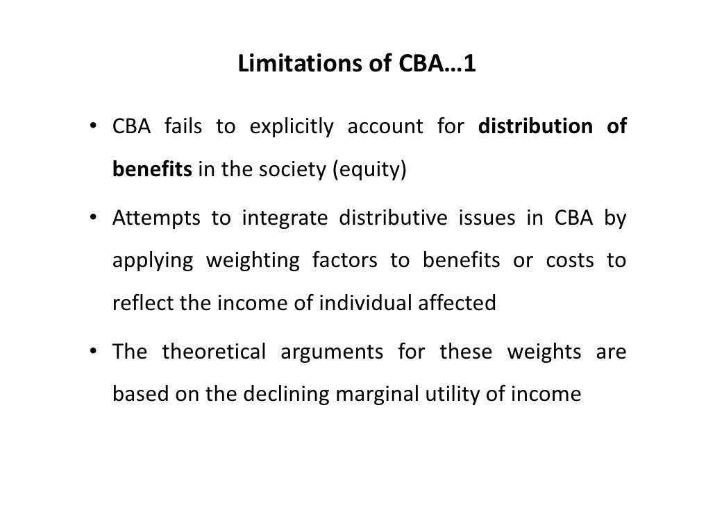 limitation of cost benefit analysis pdf