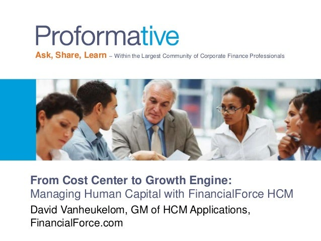 From Cost Center to Growth Engine Managing Human Capital with Financ