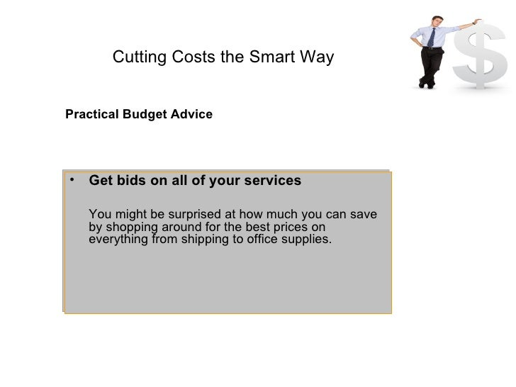 Cost Cutting Proceed With Care