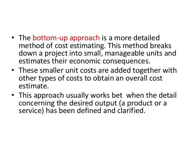 Cost estimation techniques