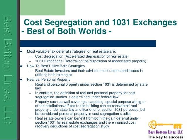 Cost Segregation Applied - Journal of Accountancy