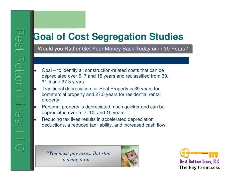 What is Cost Segregation - Ernst & Morris