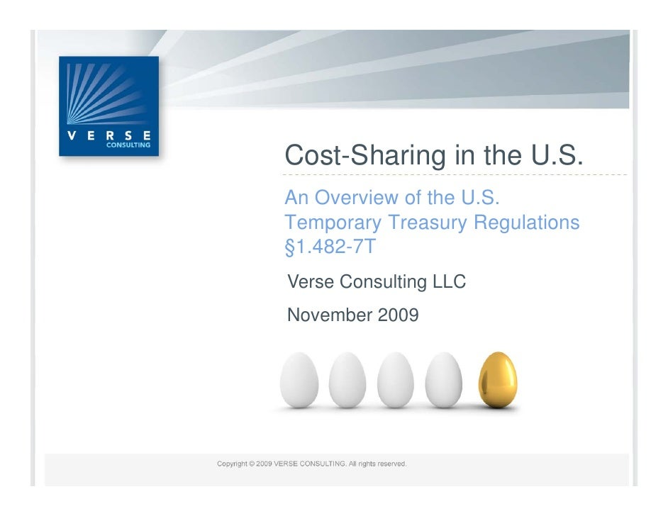 Cost Sharing Cost-Sharing in the U S                     U.S. An Overview of the U.S. Temporary Treasury Regulations §1.48...