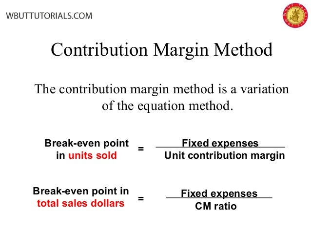 The cost profit analysis cvp