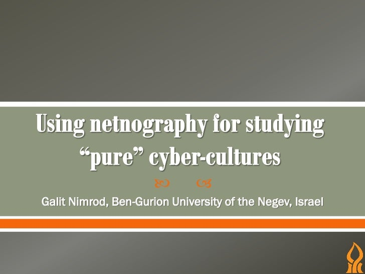        Galit Nimrod, Ben-Gurion University of the Negev, Israel