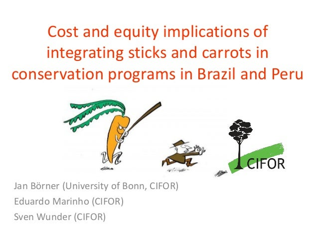 Cost and equity implications of integrating sticks and carrots in conservation programs in Brazil and Peru  Jan Börner(Uni...