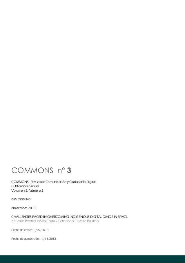 COMMONS nº 3 COMMONS - Revista de Comunicación y Ciudadanía Digital Publicación bianual Volumen 2, Número 3 ISSN 2255-3401...