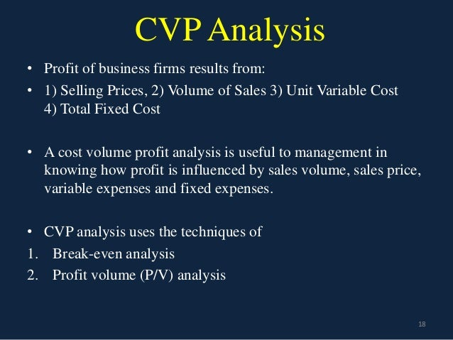 cvp and break even analysis conclusion Cost-volume-profit analysis purpose of assignment the case study focuses on cvp (cost-volume-profit), break-even, and margin of safety analyses which accounting profit analysis.
