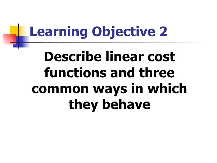 Cost Accounting : Determining How Cost Behaves