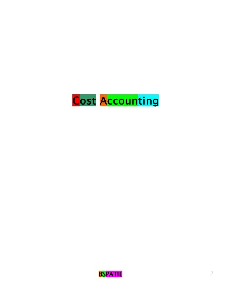 Cost Accounting    BSPATIL       1
