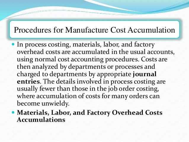 cost accumulation