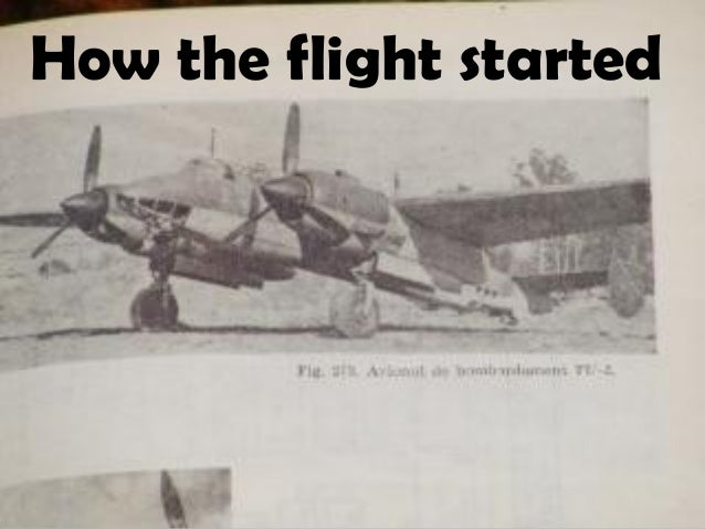 How the flight started