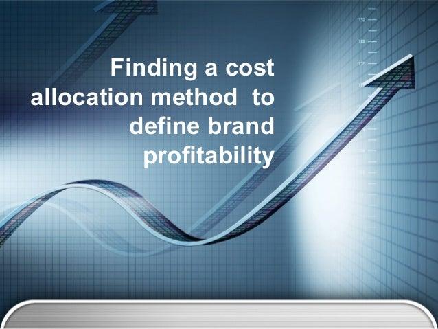 best cost allocation method essay