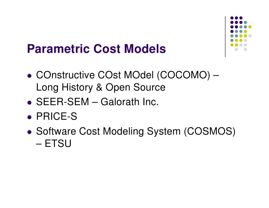 an understanding of the constructive cost model cocomo Attention is now directed at gaining a better understanding of the software  the  constructive cost model (cocomo) is the most comprehensive and.