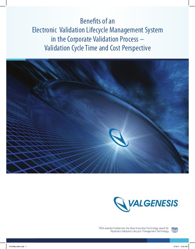 PDA awarded ValGenesis the New Innovative Technology award for Paperless Validation Lifecycle Management Technology Bene...