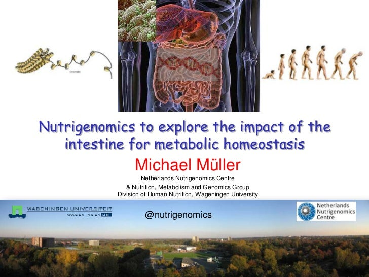 Nutrigenomics to explore the impact of the   intestine for metabolic homeostasis                 Michael Müller           ...