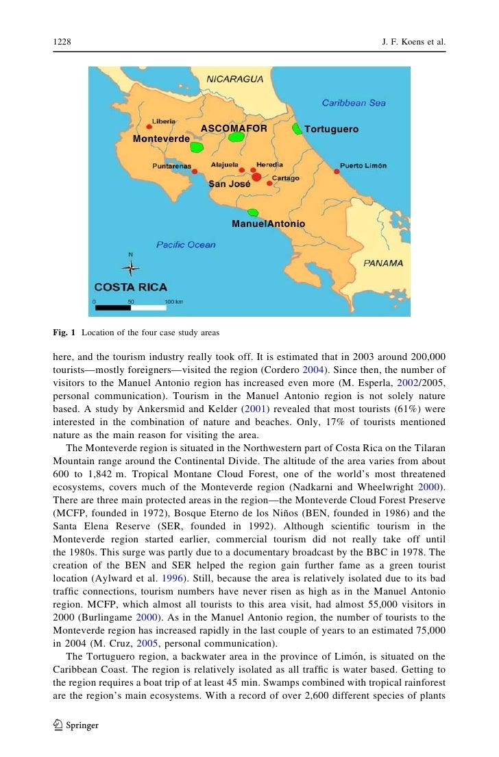 ecotourism case study - costa rica - monteverde cloud forest