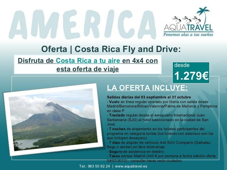 Oferta | Costa Rica Fly and Drive:Disfruta de Costa Rica a tu aire en 4x4 con                                             ...