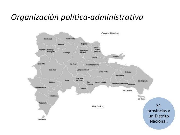 Organización política-administrativa<br />