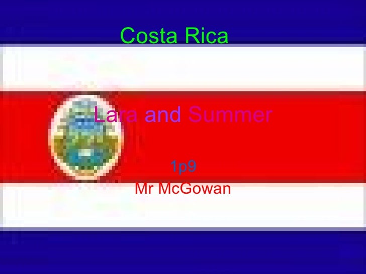 Lara  and  Summer 1p9 Mr McGowan Costa Rica
