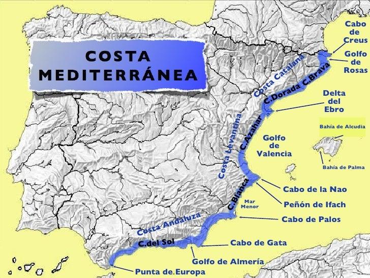 Cabo De Palos Mapa España.Costas Espana