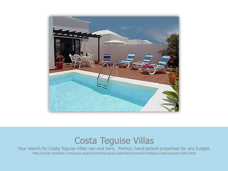 Costa Teguise VillasYour search for Costa Teguise Villas can end here. Perfect, hand-picked properties for any budget.    ...