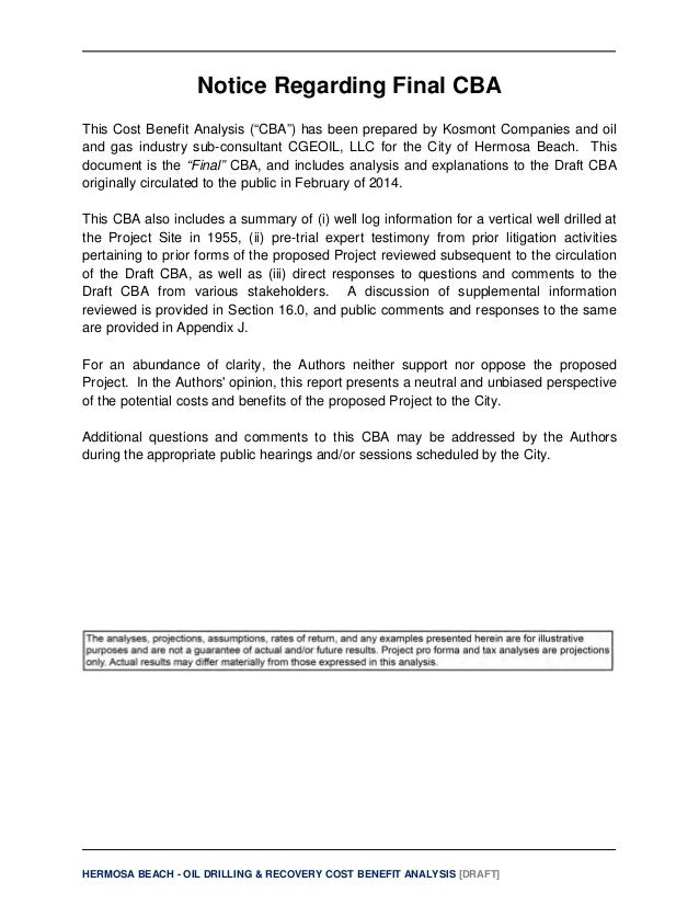 cost benefit analysis final draft Alternatives and cost/benefit analysis • draft report developed by ocse • release final report 55.