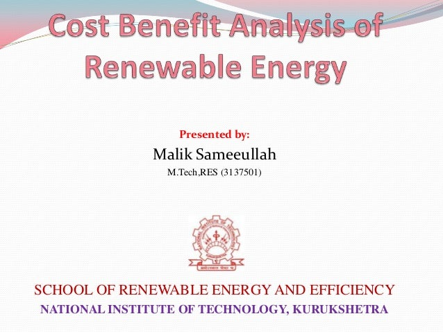the cost benefit analysis of solar energy