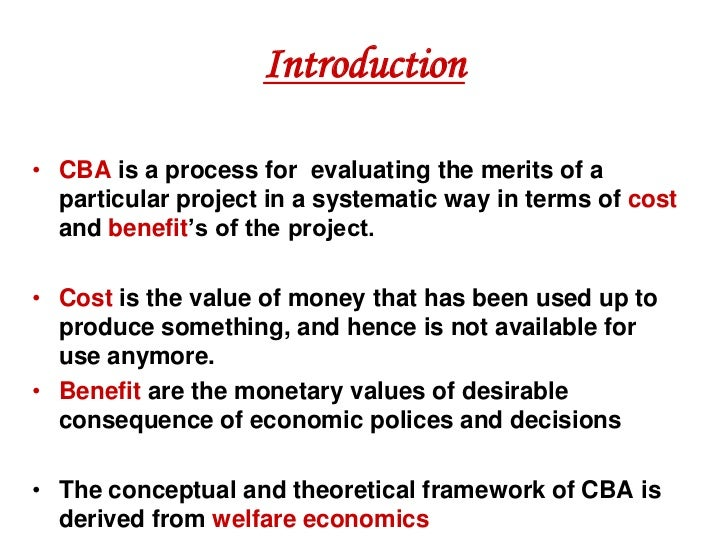 Cost Benefit Analysis Cost Benefit Analysis Cost Benefit Analysis