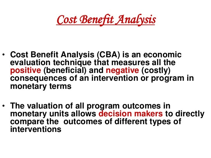 Cost Benefit Analysisu2022 ...