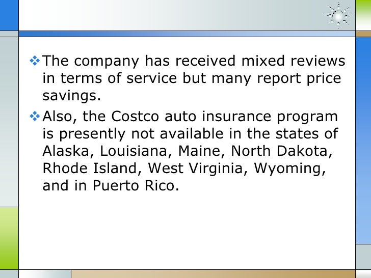 Costco Auto Program >> Costco auto insurance