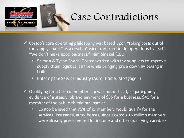 costco case study First, if you are taking a taught management course then consult with your tutor and ensure that the case has not been scheduled into a teaching class or.