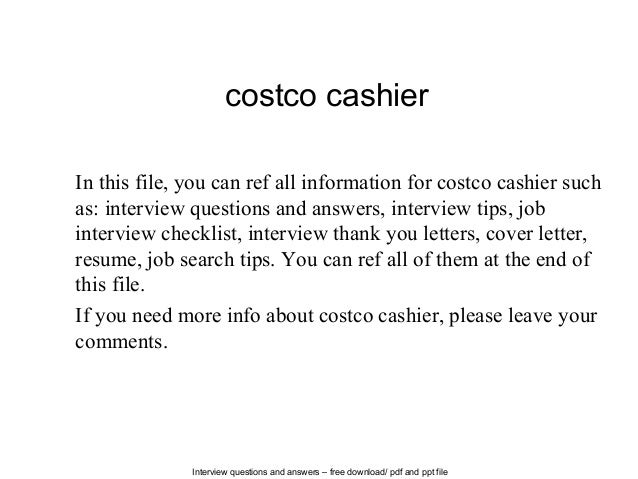 Interview Questions And Answers Free Download Pdf Ppt File Costco Cashier In This