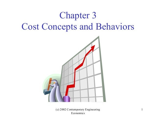 (c) 2002 Contemporary Engineering Economics 1 Chapter 3 Cost Concepts and Behaviors