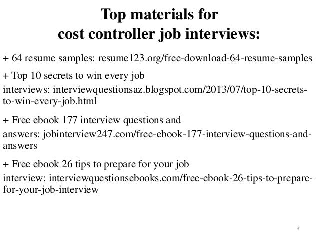 cost controller resume sample pdf ebook free download
