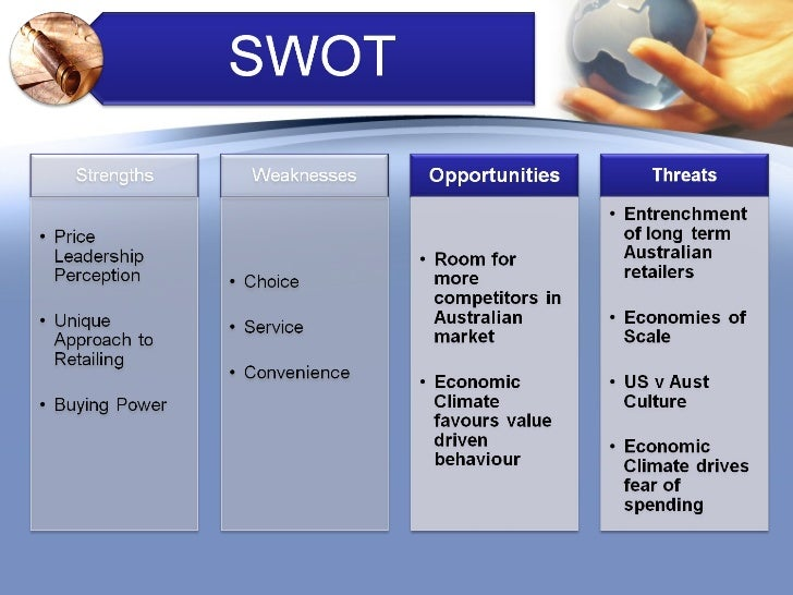 costco swot analysis Swot analysis swot matrix the swot analysis of costco warehouse  corporation is as follows: strengths y y y y strong management marketing  strategies.
