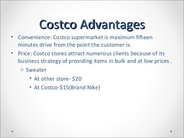 costco strategic objective Home business and strategy  costco's winning business model strategy  costco's objective has been to increase sales while cutting long-term costs (by.