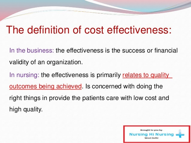 determinants of cost efficiency of the The cost-effectiveness threshold in health care systems with a constrained budget should be determined by the cost-effectiveness of displacing health care services to fund new interventions.