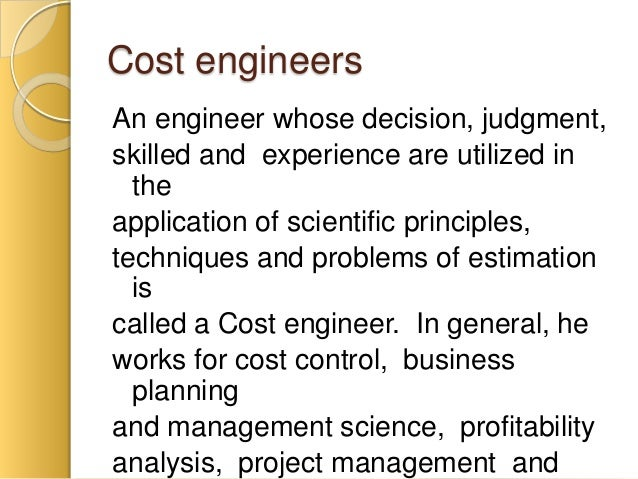 engineering cost and estimation pdf