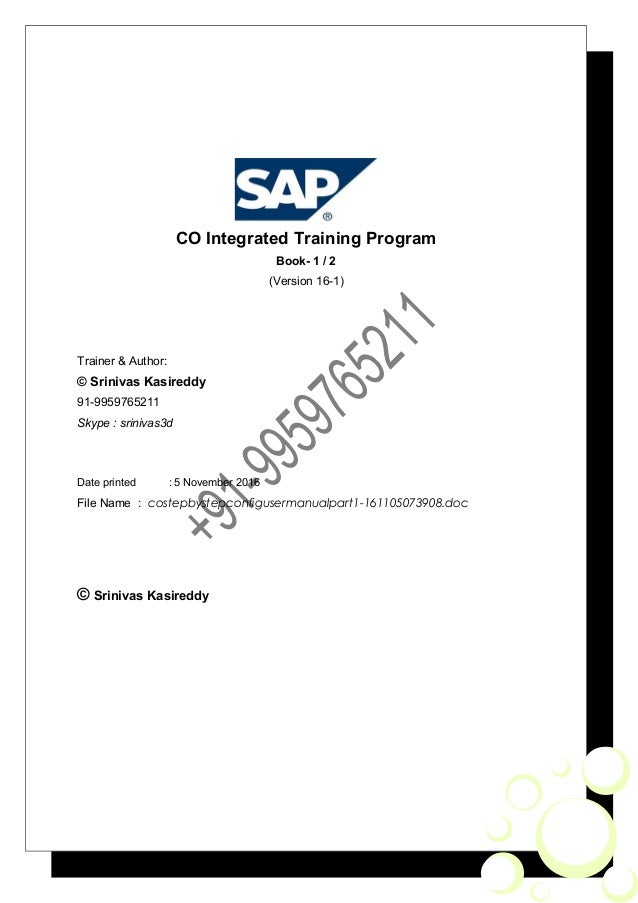 sap co step by step config guide user manual part 1 rh slideshare net CECT Abdomen CECT Scan