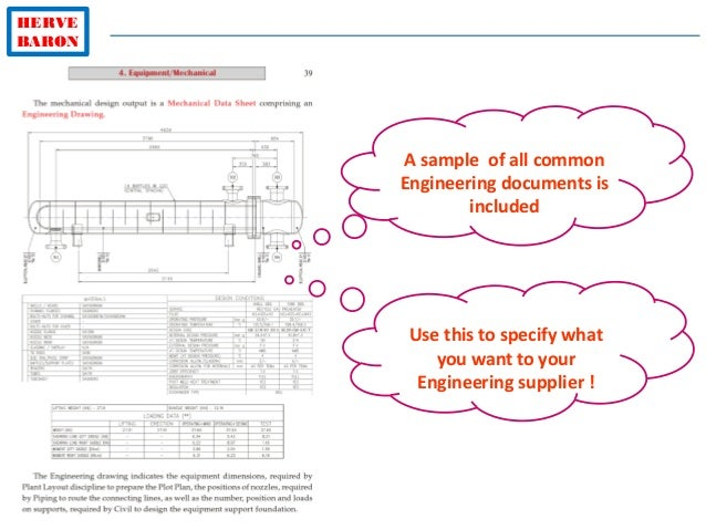 HERVE BARON A sample of all common Engineering documents is included Use this to specify what you want to your Engineering...
