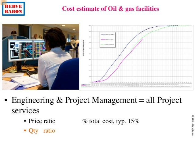 HERVE BARON Cost estimate of Oil & gas facilities ©2013–HervéBaron • Engineering & Project Management = all Project servic...